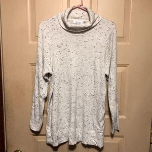 Calvin Klein Women's White Cowl Sweater